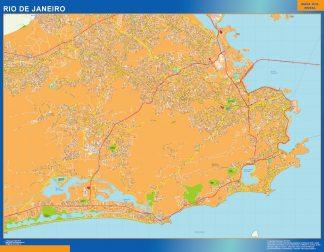 Mapa Rio de Janeiro Brasil