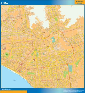 Mapa de Lima Peru